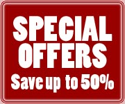 Special Offers - save up to 50%