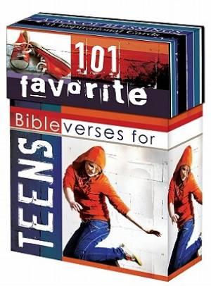 101 FAVOURITE BIBLE VERSES TEENS CARDS