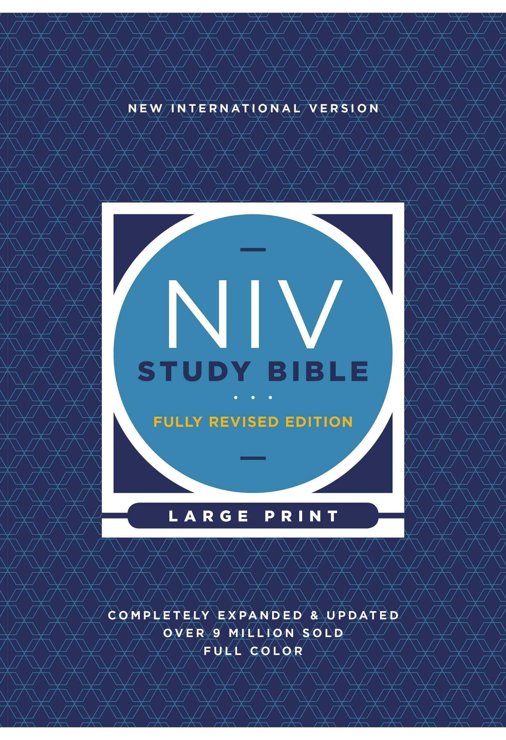 NIV STUDY BIBLE LARGE PRINT