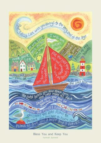 BLESS YOU AND KEEP YOU HANNAH DUNNETT PRINT