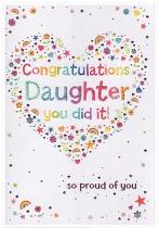 CONGRATULATIONS DAUGHTER CARD