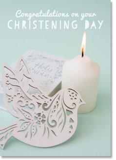 CONGRATULATIONS ON YOUR CHRISTENING DAY CARD