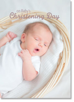 ON BABYS CHRISTENING DAY CARD