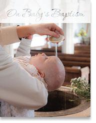 ON BABYS BAPTISM BAPTISM PETITE CARD