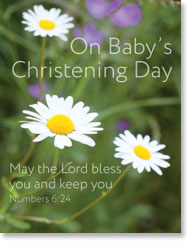 ON BABYS CHRISTENING DAY PETITE CARD