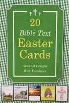 20 BIBLE TEXT EASTER CARDS
