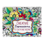 CREATIVE EXPRESSIONS TO CALM AND INSPIRE COLOURING CARDS