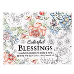 COLORFUL BLESSING COLOURING CARDS