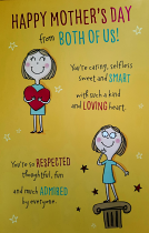FROM BOTH OF US MOTHERS DAY CARD