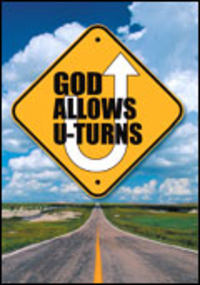 GOD ALLOWS U TURNS TRACT PACK OF 25