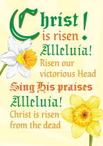 CHRIST IS RISEN EASTER CARD PACK OF 5