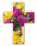 EASTER BLESSINGS PACK OF 4 CROSS EASTER CARDS