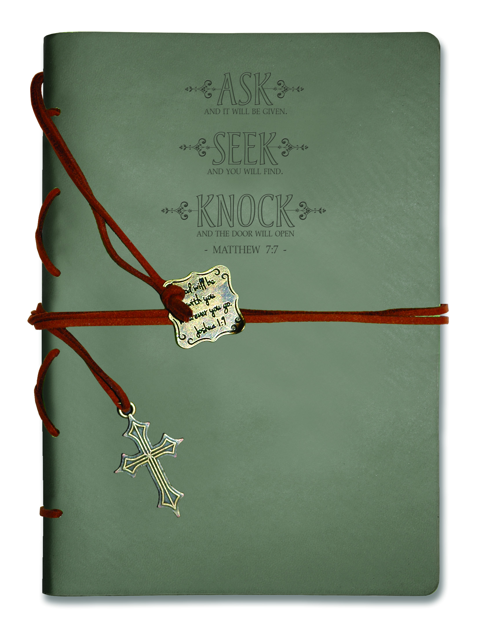 ASK SEEK JOURNAL WITH WRAP AND BOOKMARK