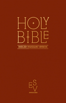 ESV ANGLICISED PEW BIBLE BURGUNDY HB