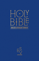ESV ANGLICISED PEW BIBLE BLUE HB