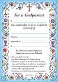 GODPARENT CARD BLUE BG2 PACK OF 40