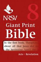 NRSV GIANT PRINT BIBLE VOLUME 8