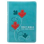KJV COMPACT TEAL BIBLE