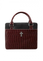 BURGUNDY PURSE BIBLE CASE