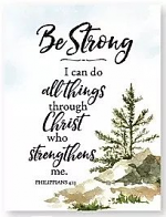BE STRONG WOODLAND GRACE MAGNET
