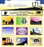 45 EASTER NEWS STICKERS