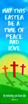 TIME OF PEACE EASTER BOOKMARK
