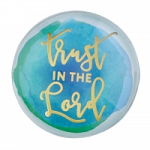 TRUST IN THE LORD GLASS DOME MAGNET