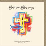 BAPTISM BLESSINGS GREETINGS CARD