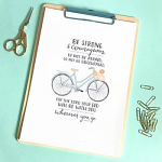 EMILY BURGER BE STRONG (BICYCLE) PRINT
