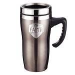 FAITH STAINLESS STEEL TRAVEL MUG
