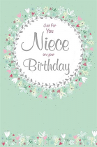 NIECE BIRTHDAY GREETING CARD