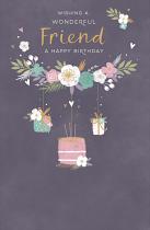 FRIENDS BIRTHDAY GREETING CARD
