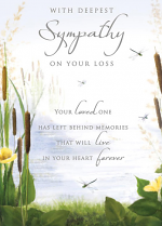 SYMPATHY ON YOUR LOSS GREETING CARD