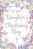 DAUGHTERS CHRISTENING GREETING CARD