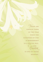 THERE ARE CERTAIN TIMES EASTER CARD