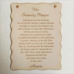 WALL PLAQUE SERENITY PRAYER