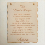 WALL PLAQUE LORDS PRAYER