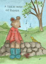 A LITTLE NOTE OF THANKS CARD