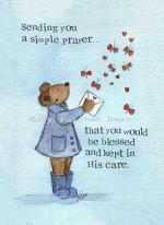 A SIMPLE PRAYER CARD