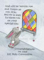 1ST HOLY COMMUNION CARD