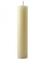 1 1/8 X 12 INCH IVORY BEESWAX CANDLE