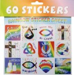 60 RAINBOW STICKERS
