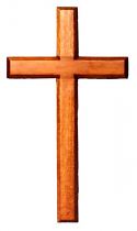 HANGING CROSS 30CM DARK WOOD