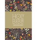 ESV COMPACT ANGLICIZED FLORAL BLACK HB
