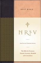 NRSV BIBLE TAN BLACK LEATHERLIKE