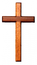 HANGING CROSS 20CM DARK WOOD