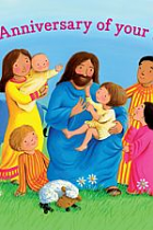 BC1A ANNIVERSARY OF BAPTISM CARDS PACK OF 10